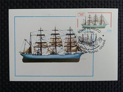 Frank Italien Mk Italy Schiffe Sailing Ship Maximumkarte Carte Maximum Card Mc C1572