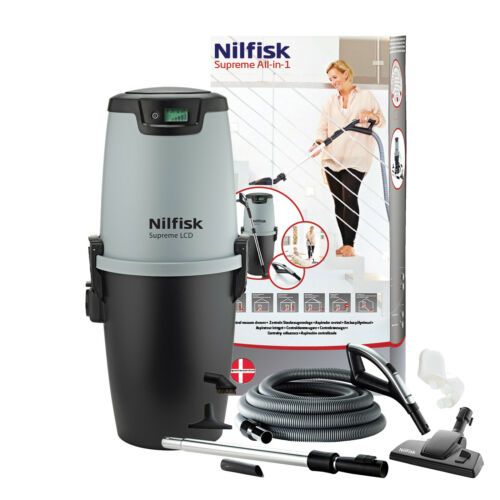 Nilfisk All-in-1 Set Supreme LCD Wireless Handle House Vacuum System Central