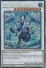 YU-GI-OH CARD: TRISHULA, DRAGON OF THE ICE BARRIER - SECRET - BLLR-EN060 -1st ED