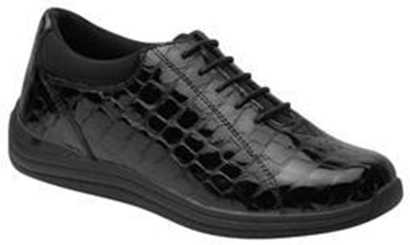 Drew Women's Tulip Tulip Tulip Comfort shoes Black Croc 921d49