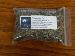 ONE OUNCE OF GRAVEYARD DIRT ~ Wicca, Santeria, Gothic (Read)