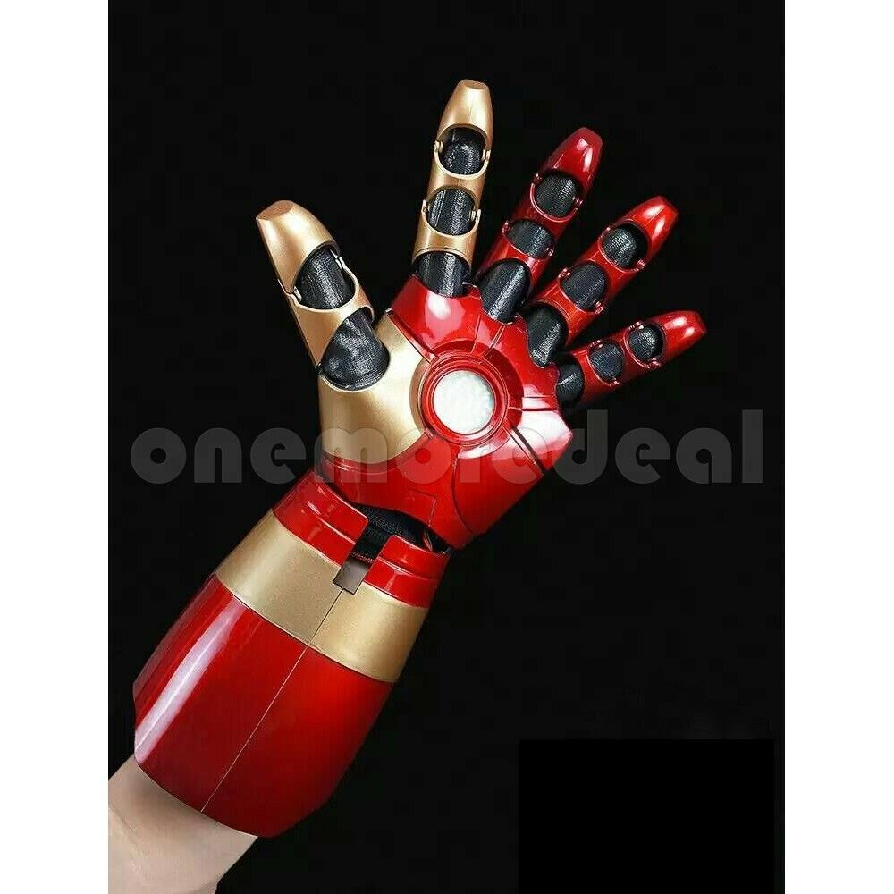 Avenger Iron Man Tony Stark Wearable Armor Left Hand Cosplay LED Sound Effect dl