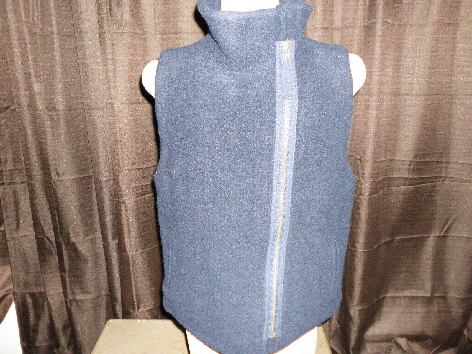 J. Crew Women's Front Zip Plush Fleece bluee Vest Vest Vest Size Medium M ee7676