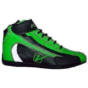 Velocita G10 Safety Driving Racing Shoes SFI Leather Nomex Flo Green Size 10