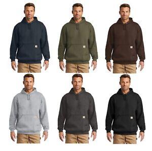 New-Carhartt-Men-039-s-Midweight-Hooded-Sweatshirt-Pullover-Workwear-Hoodie-CTK121