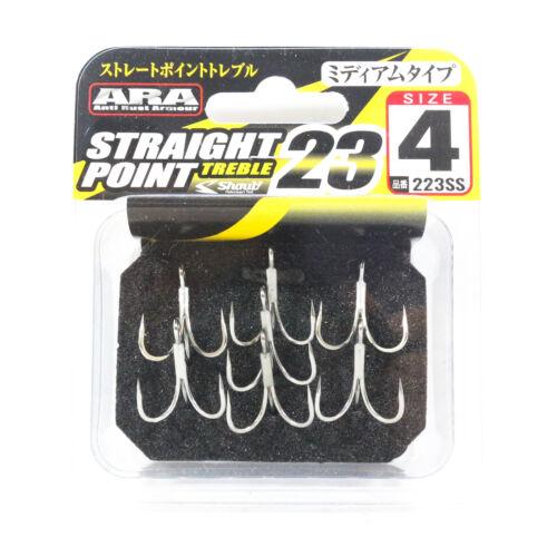 Shout 223-SS Straight Point Treble Hook Medium Gauge Size 4 2461