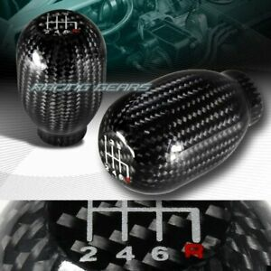 Real Carbon Fiber Type-R Manual Throw 5-Speed Gear Shift Shifter Knob Universal