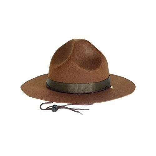 Brown Drill Sergeant Military Campaign Hat Funny Party Hats Ranger Hat