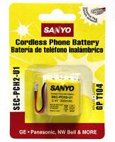 5 Pcs Sanyo Sec-pch2-u1 Cordless Phone Battery Sec Pch2 U1 Ni-cd Batteries