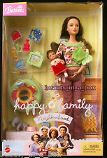 The New Neighbors Mom & Baby Happy Family Neighborhood Barbie Doll NRFB Dent