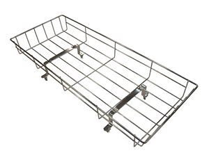 SILVER-CROSS-DOLLS-COACH-BUILT-PRAM-TOY-CHROME-SHOPPING-TRAY-OBERON-CHATSWORTH