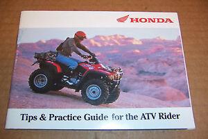 honda atv tips and practice guide for the atv rider manual 00x51 atv rh ebay co uk Tips Practice Test Tips Practice Sticks
