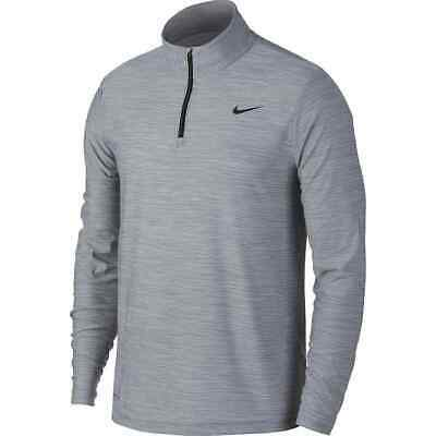 Men/'s Black Nike Dry Tech Utility Long Sleeve 1//4 Zip Training Top AA1589 010