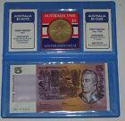 Australian $5 Paper Banknote, Parliament House $5 Coin Set