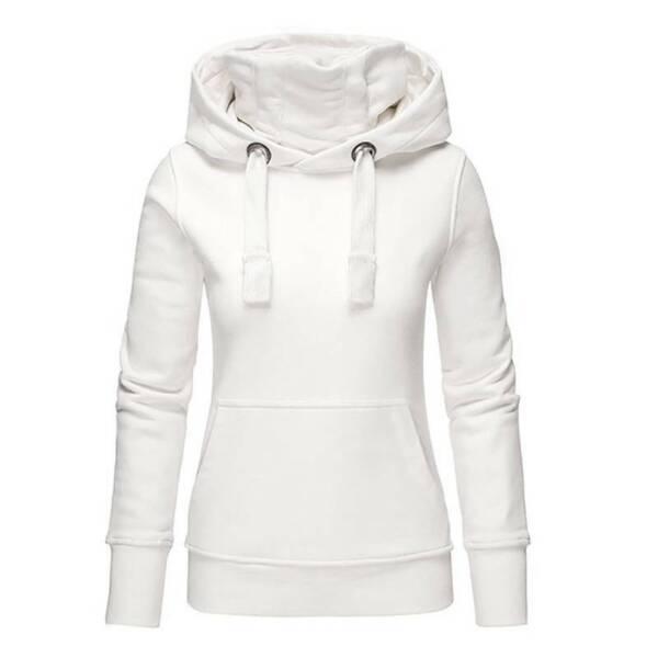 Damen Kapuzenpullover Hoodie Rollkragen Sweatshirt Pullover Jumper Top Übergröße