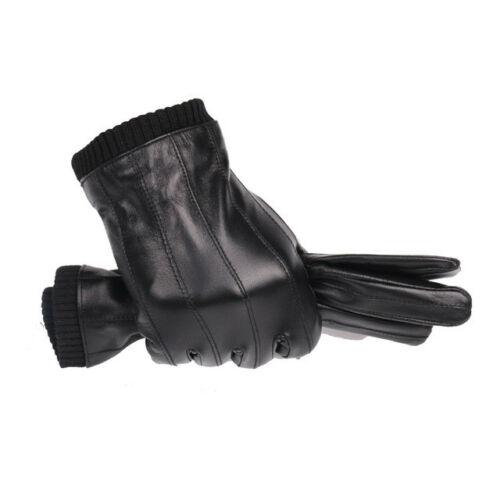 JOOLSCANA leather gloves for men winter fashion gloves made of Italian imported