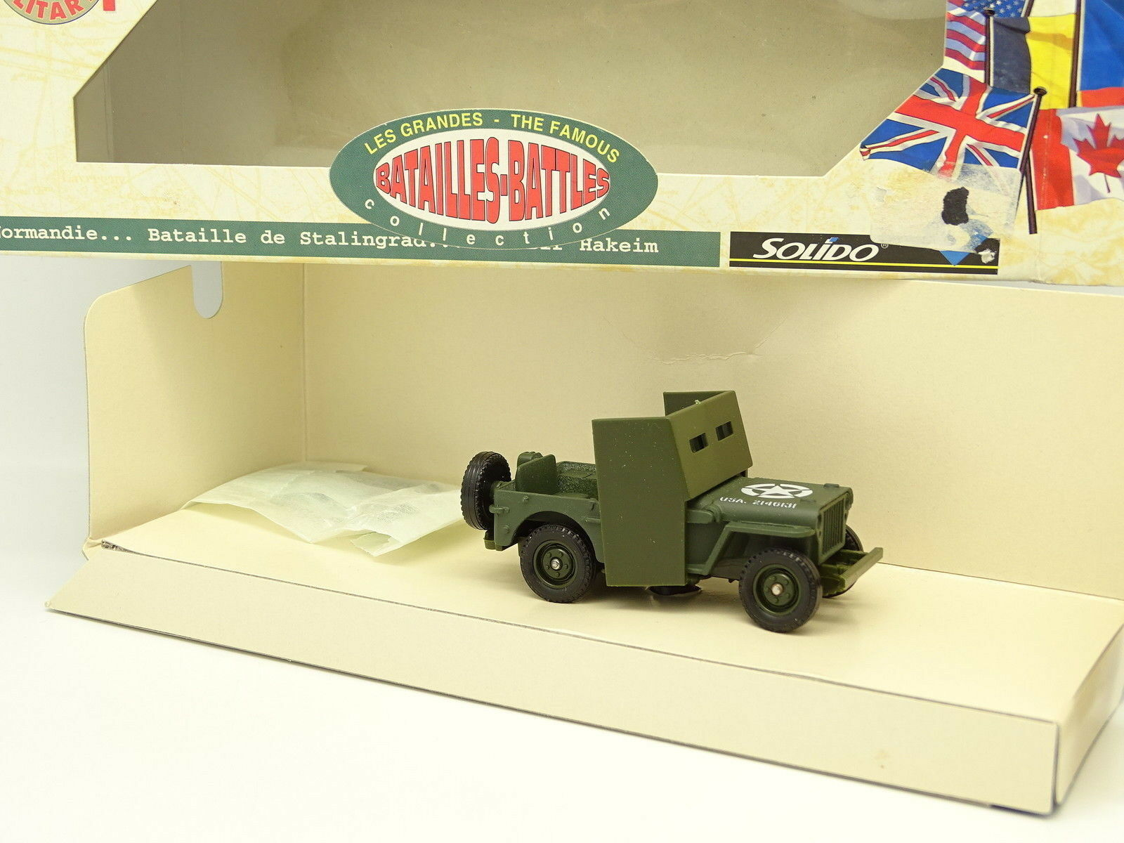 Solido Military Army 1 43 - Jeep Willys Armored