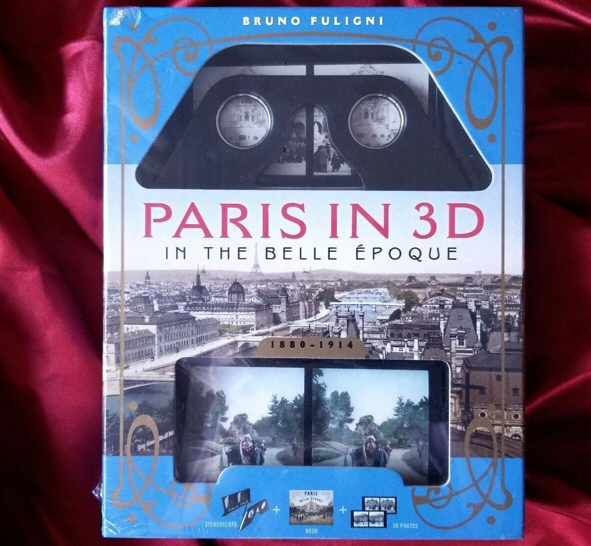 A Book Plus Steroeoscopic Viewer and 34 3D Photos Paris in 3D in the Belle /Époque