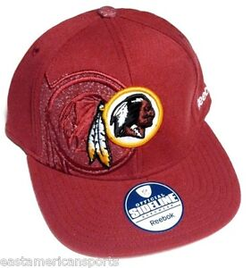 20cf5c7450c Image is loading Washington-Redskins-NFL-Reebok-Sideline-Flat-Visor-Red-