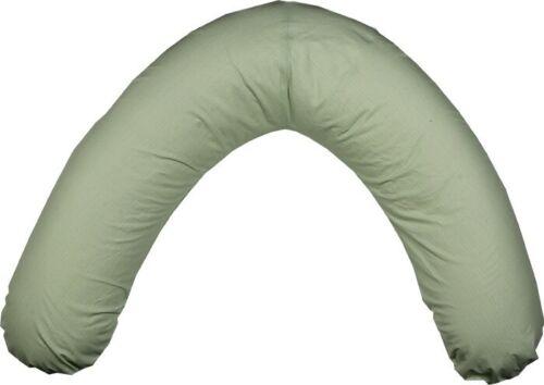 Stillkissenbezug Bezug Seitenschläferkissen Kissenbezug XXL 42 Liter grün
