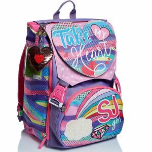 Zaino Cartella Scuola Estensibile per Ragazzi Seven SJ Girl Pastel Rainbow