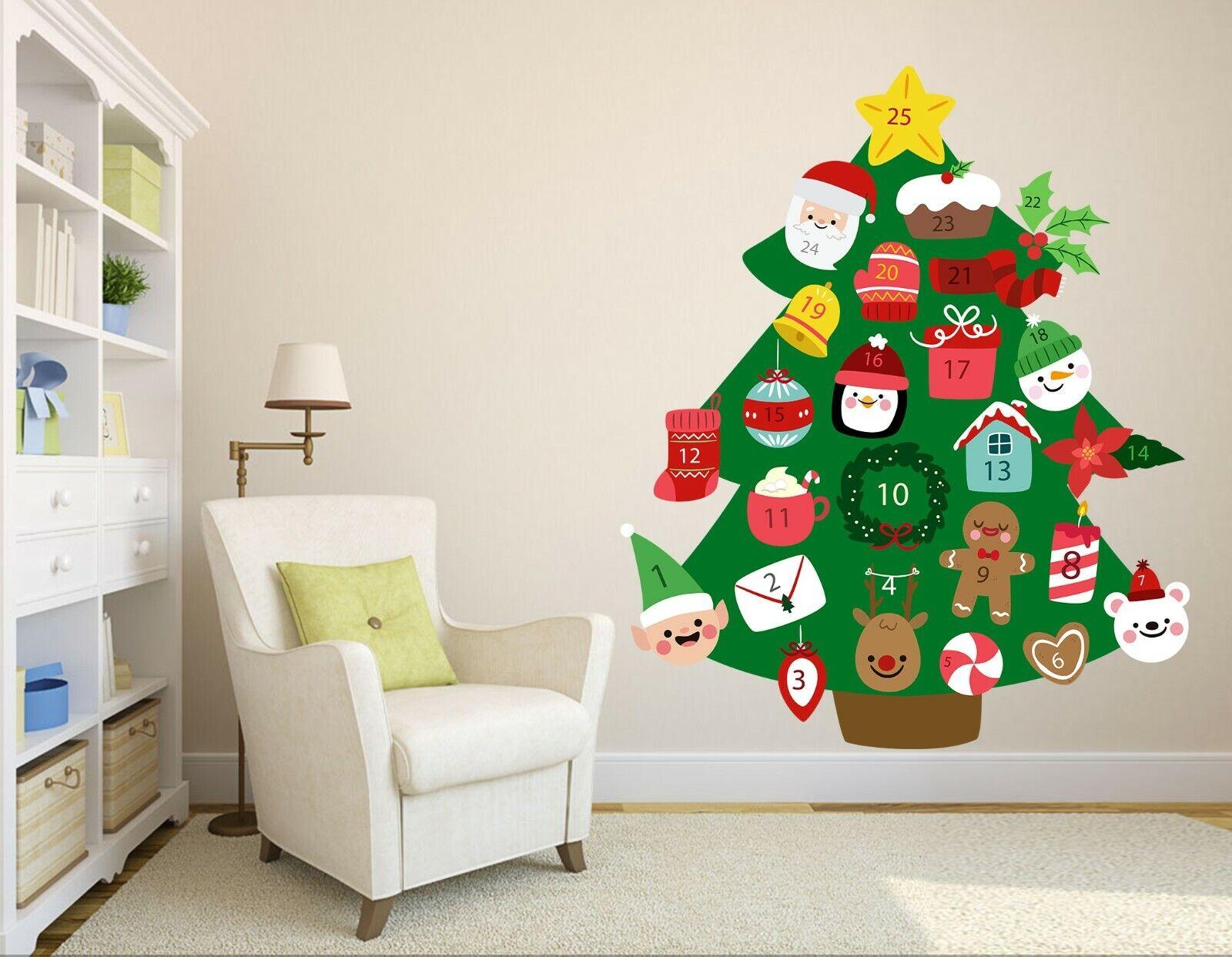 3D Christmas Tree B17 Christmas Wallpaper Murals Wall Print Decal Wall Zoe