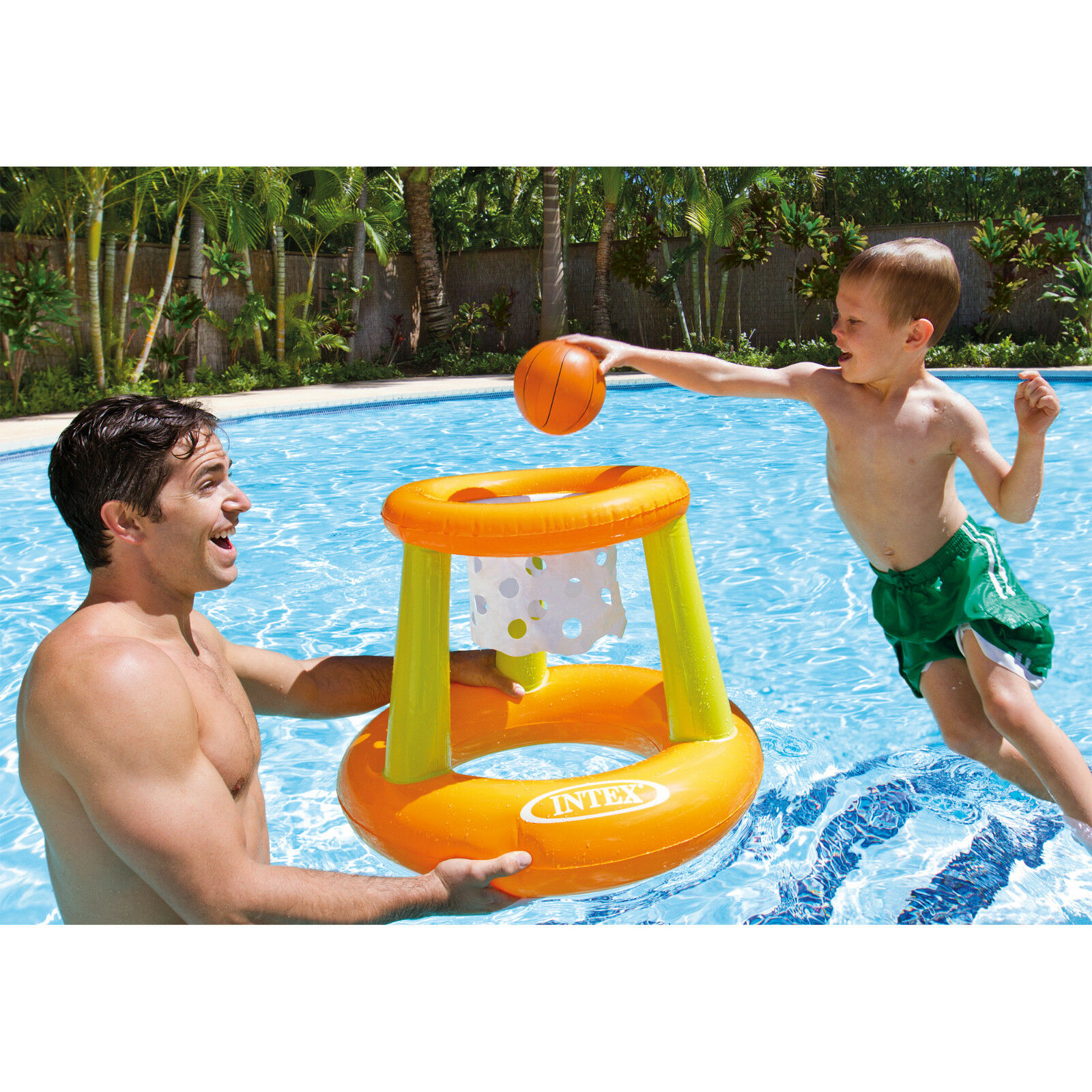 Intex Floating Hoops Inflatable Basket Ball Type Swimming Pool Toy Float #58504