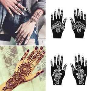 Diy Body Art Tattoo Stencils Henna Template Sticker Temporary Hand Decal Ebay