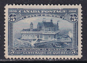Canada 1908 Quebec Tercentenary Issue #99  MNG  Well Centred  CV $150.00. See*
