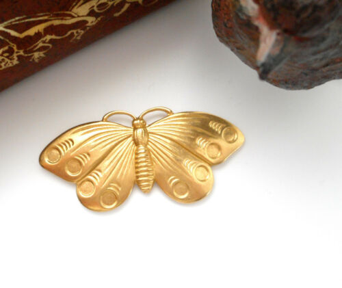 BRASS Moth Cabochon Butterfly Stamping Jewelry Cabochon Finding FA-6035