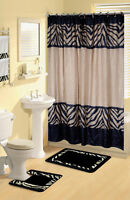 Safari Black Amp White Zebra Print Bath Accessories Bathroom