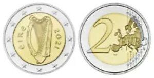 Ierland 2021  2 euro  ZEER ZELDZAAM - RARE  UNC uit de BU - COFFRET 6.000 ex !!!
