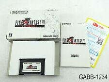 Complete Final Fantasy 6 VI Game Boy Advance Japanese Import GBA JP US Seller B
