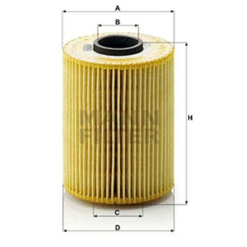 MANN HU926//4x FILTRO OLIO ELEMENTO IN METALLO GRATIS 110mm altezza 81mm diametro esterno