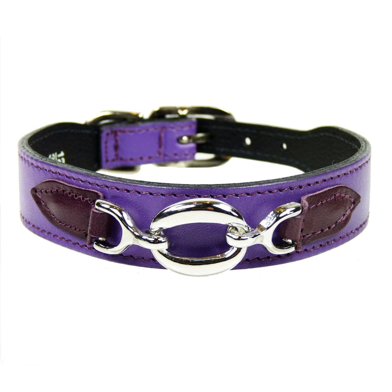 Hartman & pink Hartman Dog Collar, Grape with Wine Tabs-size  10-12 Inch (XS S)