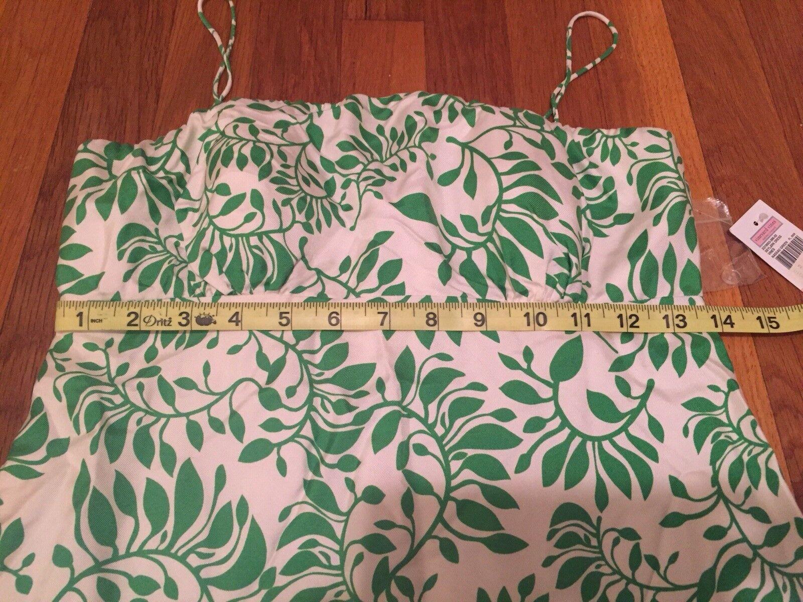 VINEYARD VINES NWT green silk floral dress SZ 2