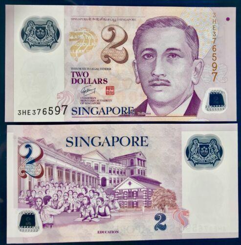 SINGAPORE 2 DOLLARS 2007 P 46 UNC