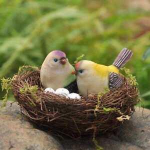 10cm Handmade Vine Bird Nest House Home Sill Nature Craft Holiday Decoration