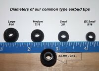 earbud replacement  earbud replacements  They fit over 50 types Extra small