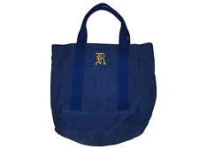 Rugby Ralph Lauren Indigo Blue Polo Monogram City Campus Beach Tote Bag