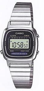 Casio-LA-670W-Orologio-Donna-polso-Vintage-Nuovo-Crono-Sveglia-Bracciale-Acciaio