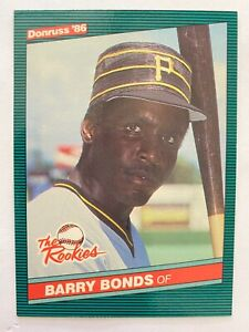 1986 Donruss The Rookies BARRY BONDS XRC #11, Pirates RC Rookie GOAT    QTY.