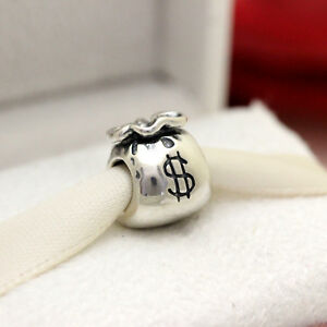 Image Is Loading New Authentic Pandora Charm Money Bag 790332