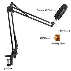Microphone Mic Clip Suspension Boom Scissor Arm Stand