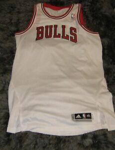 huge discount 093b3 d80d2 Details about Authentic Pro Cut Blank Chicago Bulls jersey Home White  jordan pippen 72-10 ring