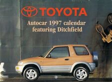 Toyota Autocar Calendar 1997 Starlet Paseo Corolla MR2 Carina Celica Camry RAV4