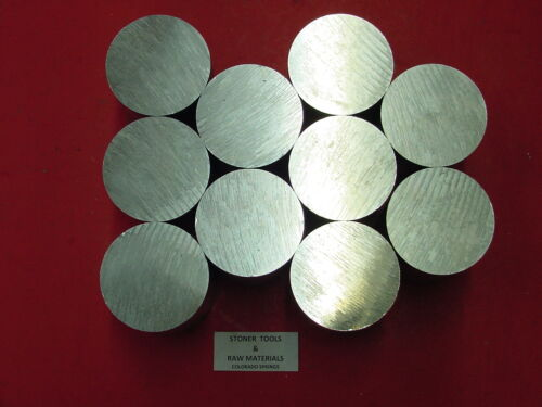 "10 Pieces 2-1//2/"" ALUMINUM ROUND 6061 SOLID ROD 2.5/"" long T6 Lathe Ber Stock"