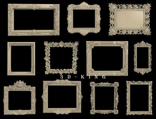 STL 3D Models # SQUARE FRAMES № 5 # 30+3 PCS  for CNC Aspire Artcam 3D Printer