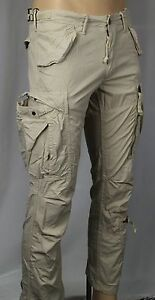 7796df358 Polo Ralph Lauren Beige Straight Fit Cargo Pants Snaps Zip NWT  165