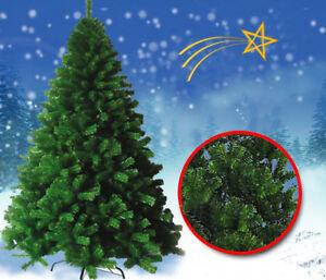 Albero Di Natale Ebay.Albero Di Natale Verde Largo Molto Folto Artificiale Pino 180 210 240 270 300cm Ebay